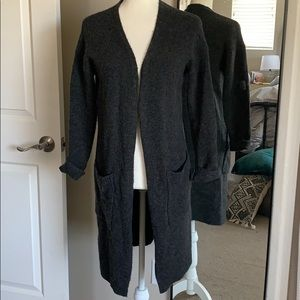 F21 long open cardigan!